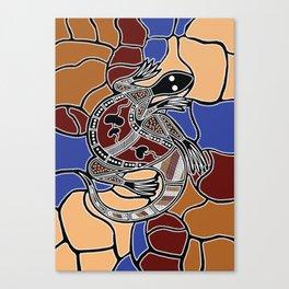 Aboriginal Art - Goanna (lizard) Dreaming Canvas Print