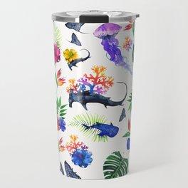 tropical shark pattern Travel Mug