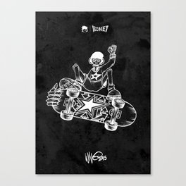 Boney Skateboarding series - 02 Canvas Print