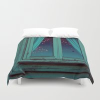 window Duvet Covers featuring Window by Sushibird