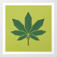 weed Art Prints featuring weed by rubenmontero