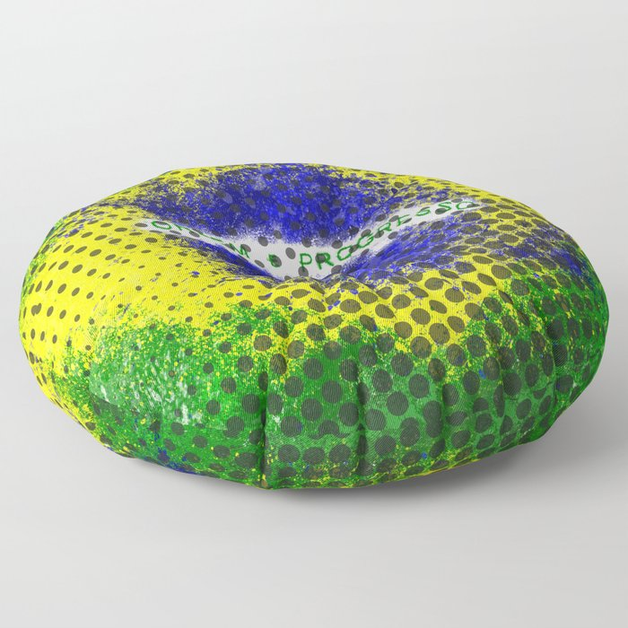 Brazil - Brazilian Flag Floor Pillow