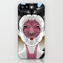 Robot Geisha V1 iPhone Case