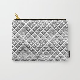 Diagonal Diamond Graphic Pattern Carry-All Pouch