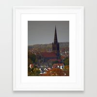 chad wys Framed Art Prints featuring St Chad, Far Headlingley by Steve Watson