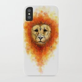Gesture Lion with Mane iPhone Case