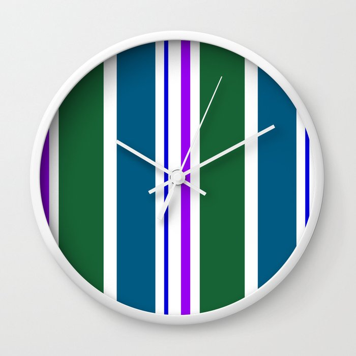 Stripes in colour 3 Wall Clock