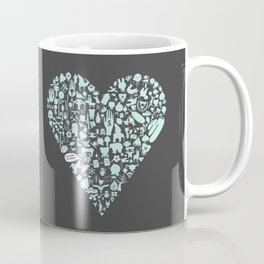 NO WORK, NO DINNER Iconical heart shape  Coffee Mug