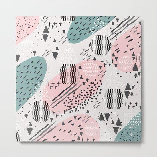 Geometric shapes & strokes Metal Print