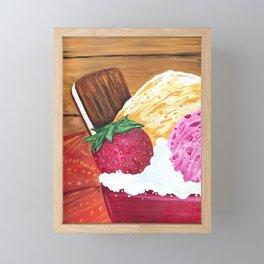 Ice Cream Dream Framed Mini Art Print