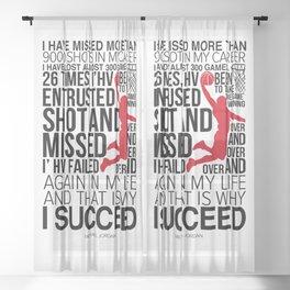 Michael Jorden Basketball Motivation Sheer Curtain