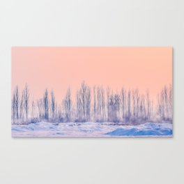 pastel winter landscape #society6 #decor #buyart Canvas Print