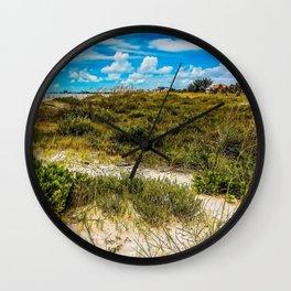 Florida Beach Greens Wall Clock