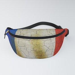 Cracked France flag Fanny Pack