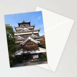 Hiroshima castle, also known as Carp Castle, in Japan Stationery Cards