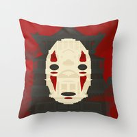 spirited away Throw Pillows featuring Spirited by Danny Haas
