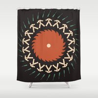 tool Shower Curtains featuring Tool & Die by See Kevin Design