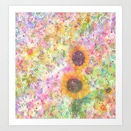 Cosmic Helianthus - Sunflowers Art Print