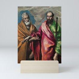 "El Greco (Domenikos Theotokopoulos) ""Saint Peter and Saint Paul (1590-1600)"" Mini Art Print"