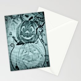Happy Halloween Pumpkins Stationery Cards