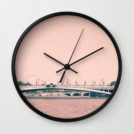 Paris, pont Alexandre III Wall Clock