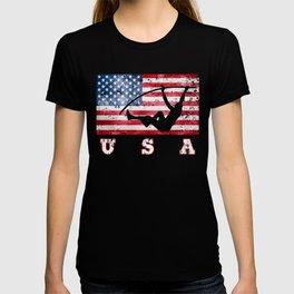 USA Pole Vault - Flag of America T-shirt
