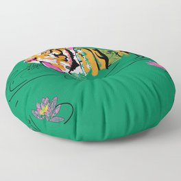 Tigar Lily Floor Pillow