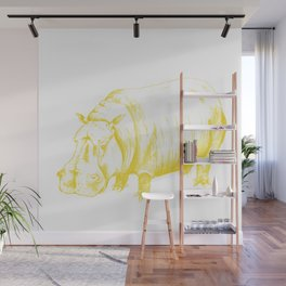 Hippo Yellow Wall Mural