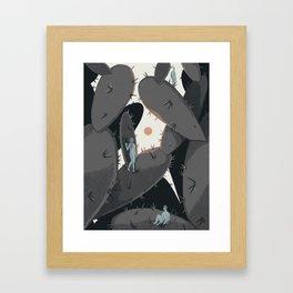 Spines Framed Art Print