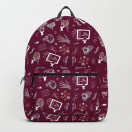 Academic Medicine on Burgundy Backpack