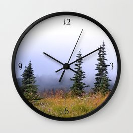 High Upon A Mountain Wall Clock