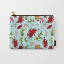 Beautiful Christmas Pattern with Australian Native Flowers Carry-All Pouch