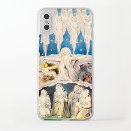 William Blake - When the Morning Stars Sang Together, 1804 Clear iPhone Case