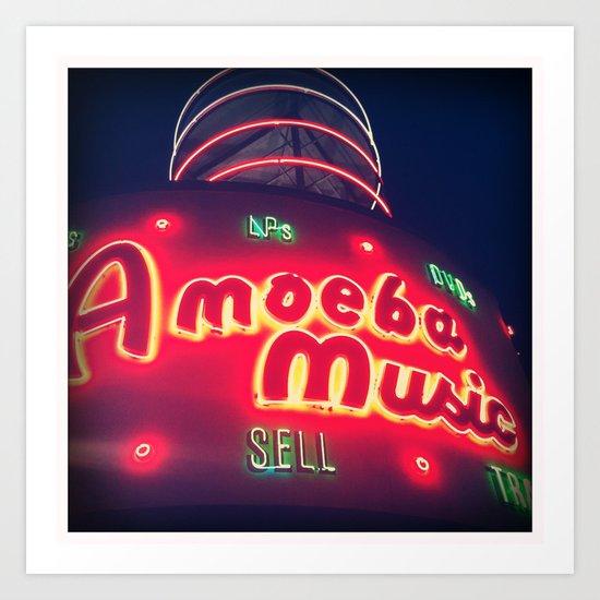 Amoeba Music Art Print