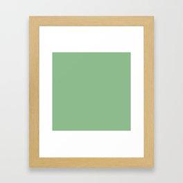 Dark Sea Green Framed Art Print