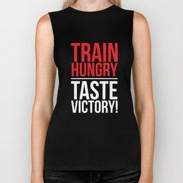 Train Hungry Taste Victory Cheat Day Workout T-Shirt Biker Tank