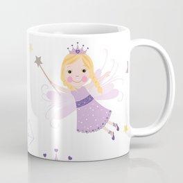 Cute Fairytale Pattern With Stars, Mushroom and Magic Wand Pattern Coffee Mug