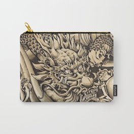 Japanese dragon and Koi fish Carry-All Pouch
