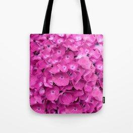 Artful Pink Hydrangeas Floral Design Tote Bag