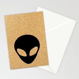 cork paper alien Stationery Cards