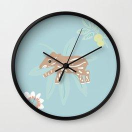 Baby Tapir Wall Clock