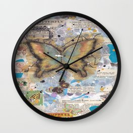 the butterfly Wall Clock