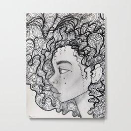 Frizzy Metal Print