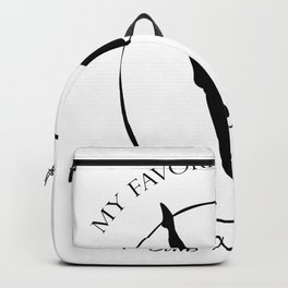My Favorite Gymnast Calls Me Mom Funny Gifts Backpack
