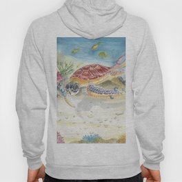 Colorful Sea Turtle 2 Hoody