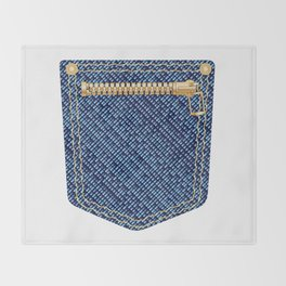 Zipper Pocket Throw Blanket