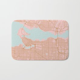 Pink and gold Vancouver map, Canada Bath Mat