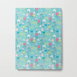 Frolicking floral Metal Print