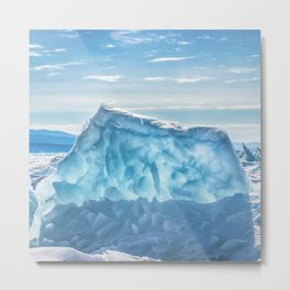 Pressure ridge of lake Baikal Metal Print