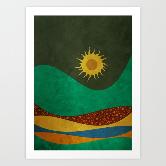 color under the sun (III) Art Print